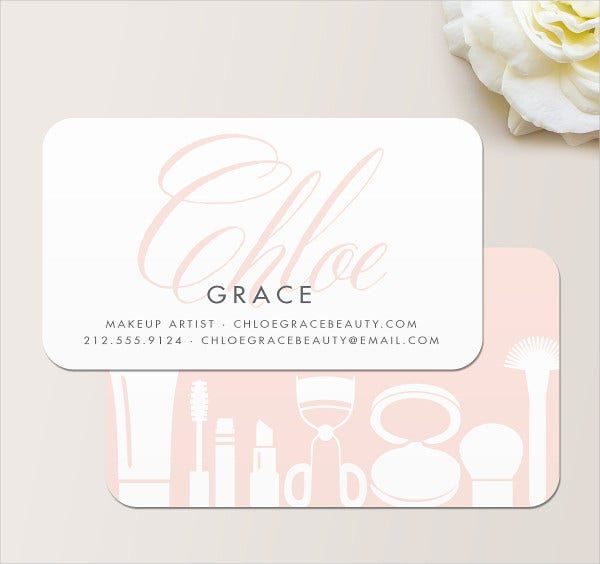 cheap makeup artist business card