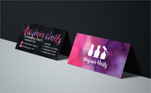Free Printable Makeup Artist Business Card