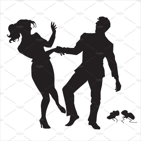 Dancing Human Silhouette
