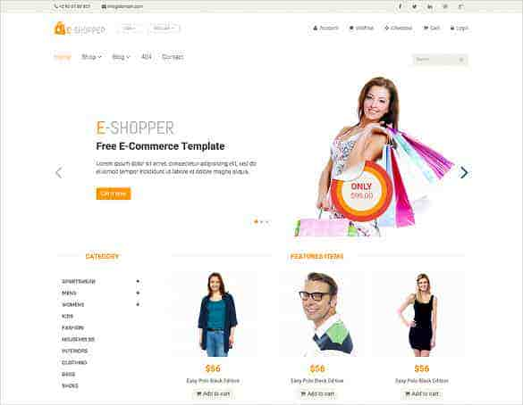free ecommerce html bootstrap template min