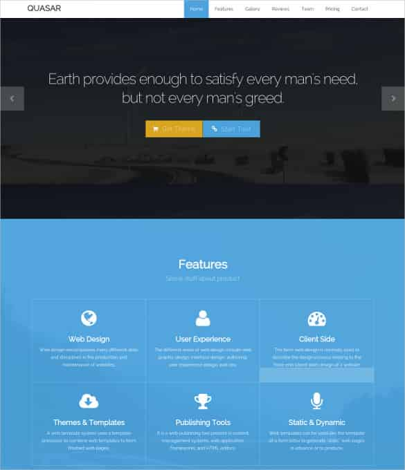 Free One Page Html Responsive Bootstrap Template