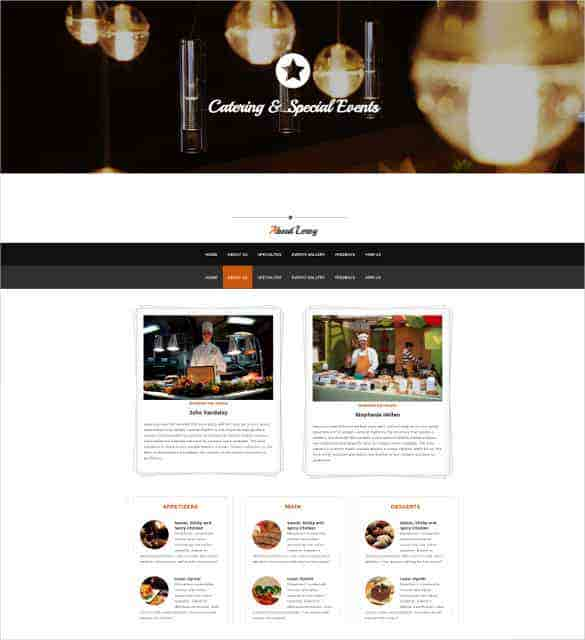 free one page special events html bootstrap theme - Free Picture Page