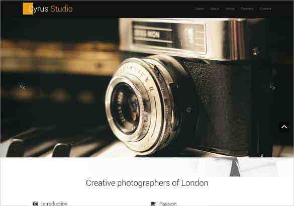 free photography bootstrap website theme min