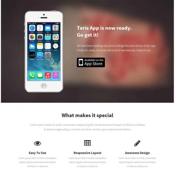 iphone app landing page min