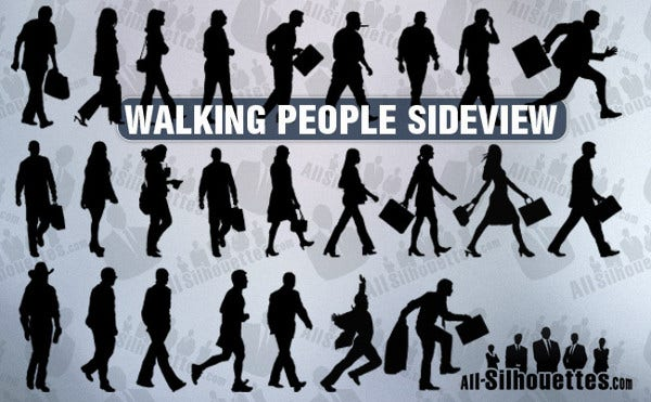 Walking Human Silhouette