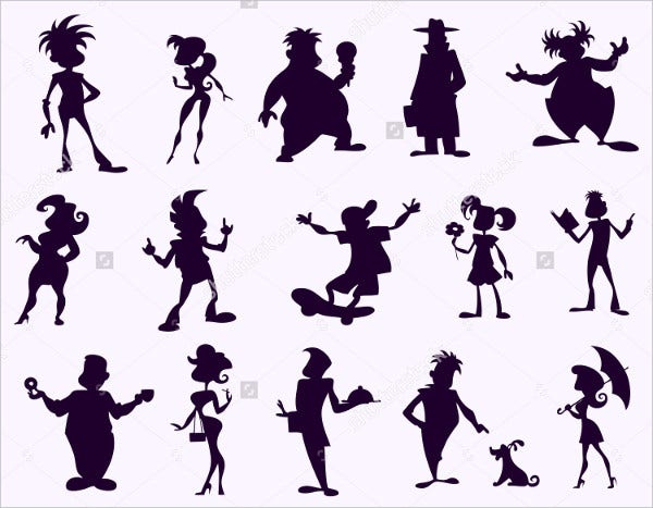 Cartoon Human Silhouette