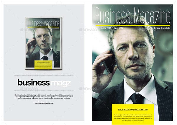 Business Magazine Template PSD