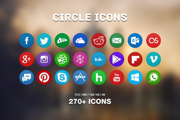 Free Circle Icons Pack