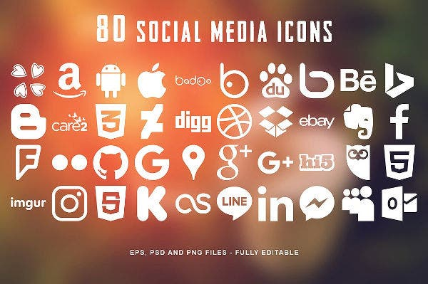 80 social media icons mega pack