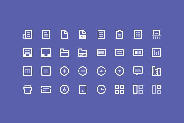 32 free line icon packs