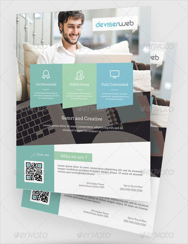 Business Magazine Ads Template