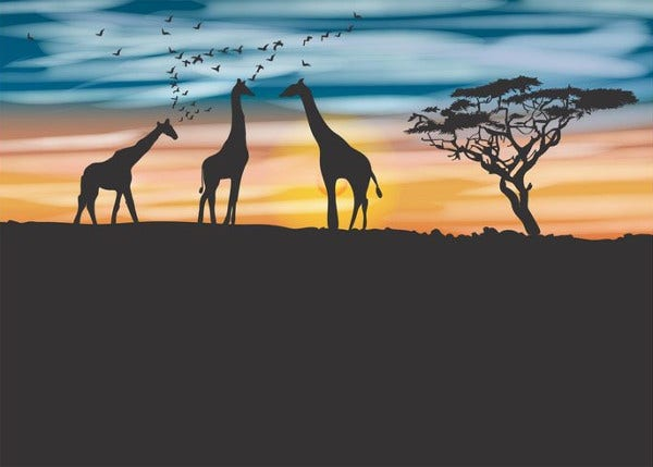 graphic relating to Free Printable Silhouettes identify 8+ Giraffe Silhouettes - Absolutely free PSD, VEctor, EPS, JPG Structure