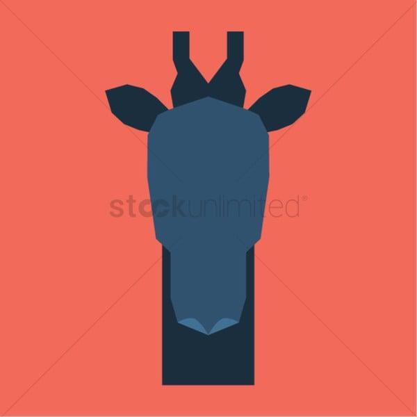 Giraffe Face Silhouette