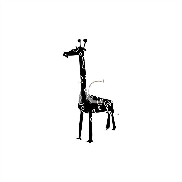 Cartoon Giraffe Silhouette