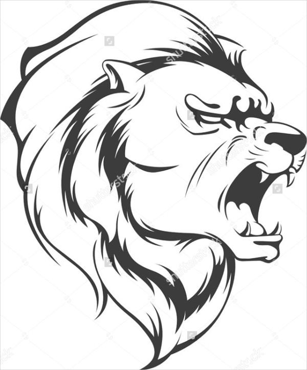 Kleurplaat Leeuwenkop 9 Lion Silhouettes Free Psd Vector Eps Jpg Format