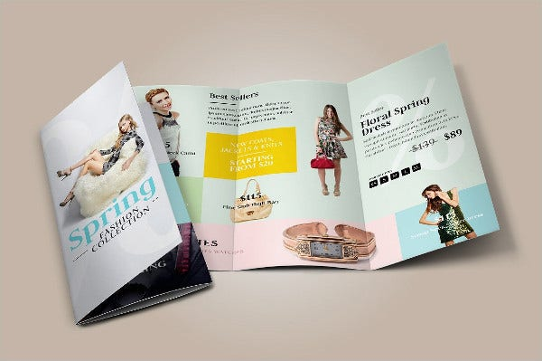 fashion store tri fold brochure