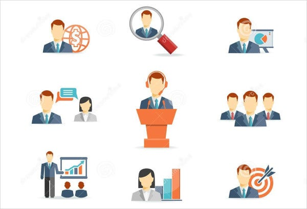 Vector Business Person Icons