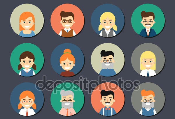 Cartoon Person Icons