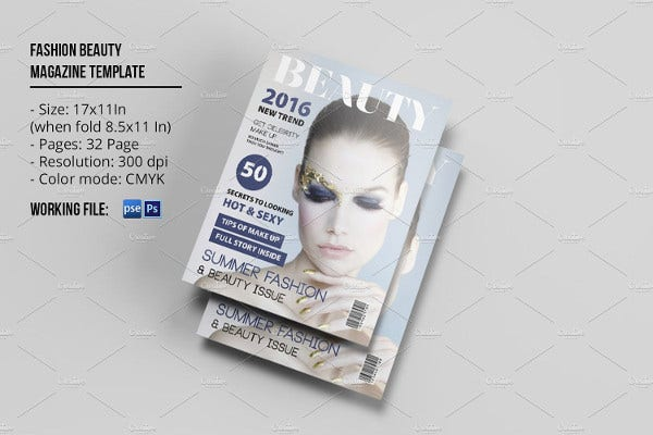fashion and multipurpose magazine template