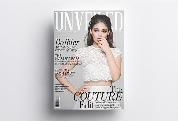 A5 Fashion Magazine Template