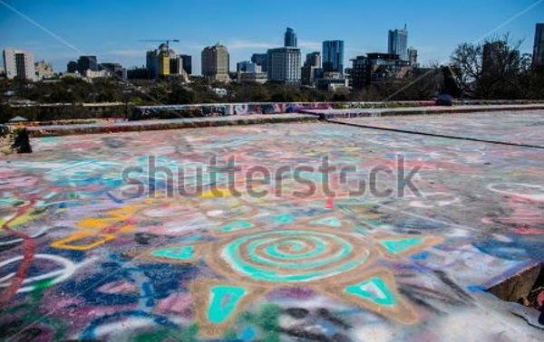 graffiti landscape photography