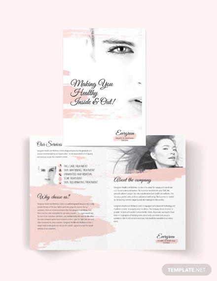 accordion fold bi fold brochure template