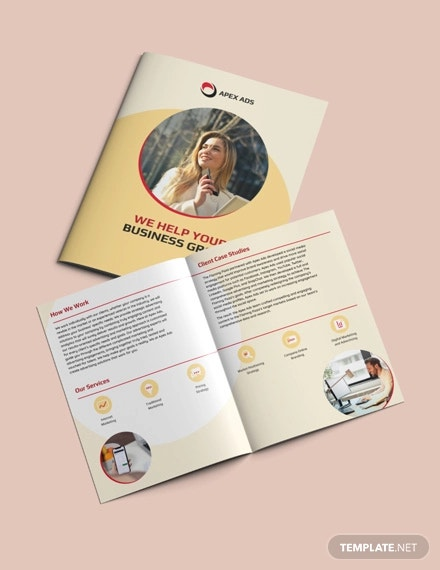 advertising consultant bi fold brochure template
