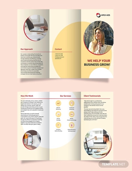 advertising consultant tri fold brochure template