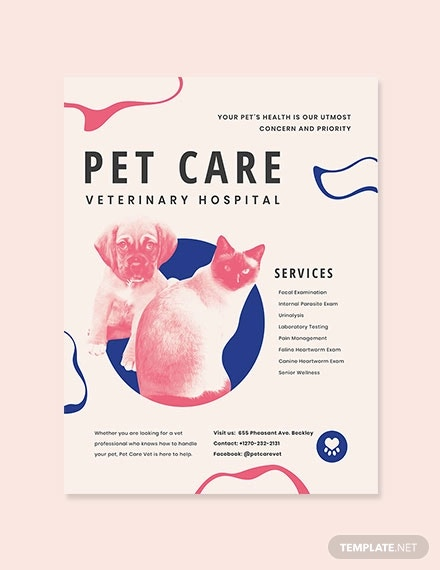 animal hospital poster template