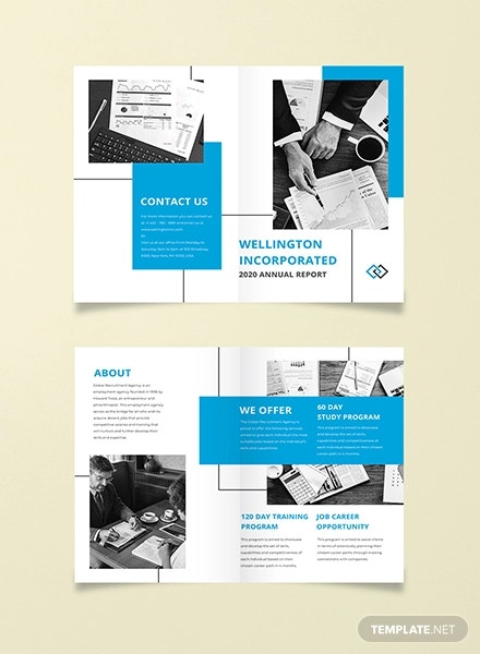 annual report bi fold brochure template