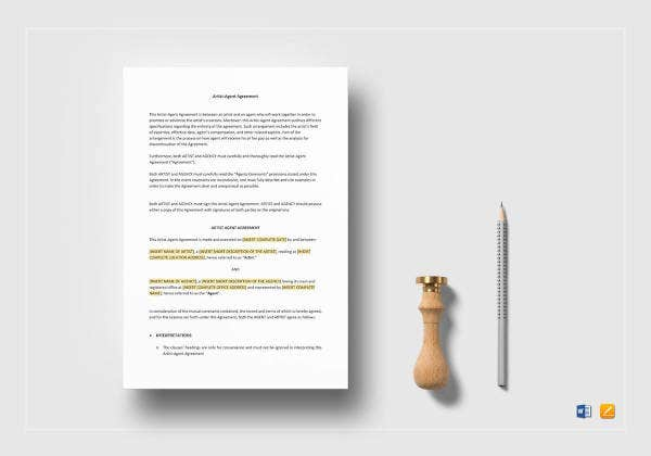 artist-agent-agreement-template