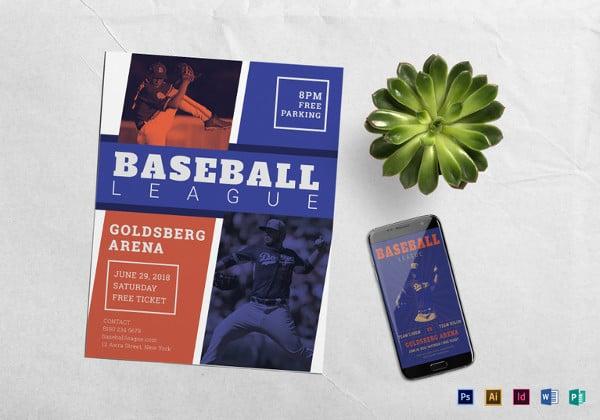 baseball flyer templates free