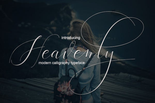 beautiful heavenly script