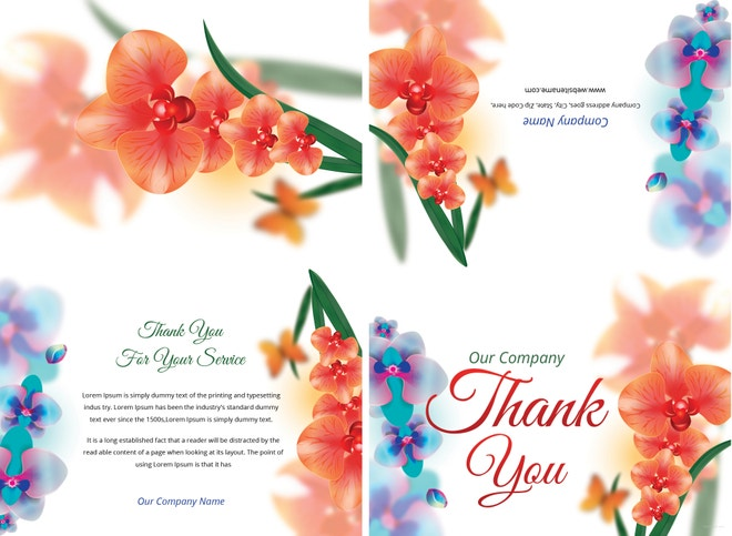 bi fold thank you card