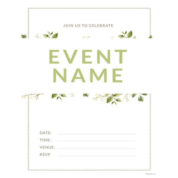 blank event invitation template