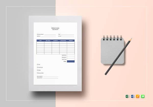 sales receipt template 9 free pdf word documemts download free