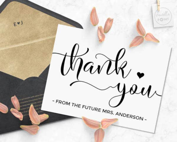 bridal shower thank you gift card1