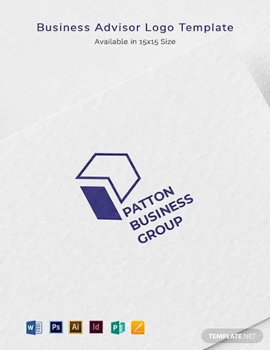 business advisor logo template