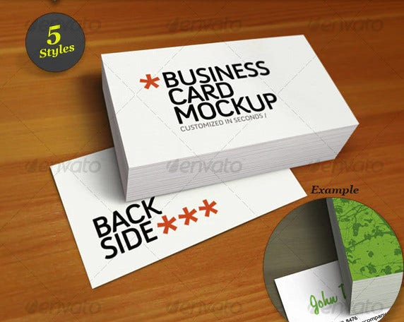 business card mock up smart template pack