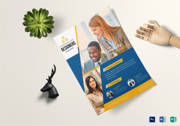26 best conference flyer designs psd ai vector eps free