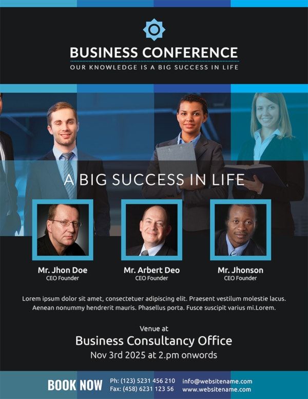 business conference flyer template1