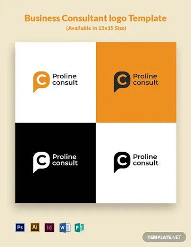 business consultant logo template