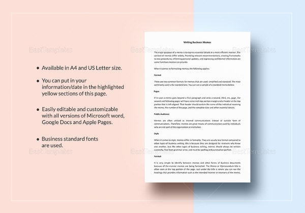 business-memo-template