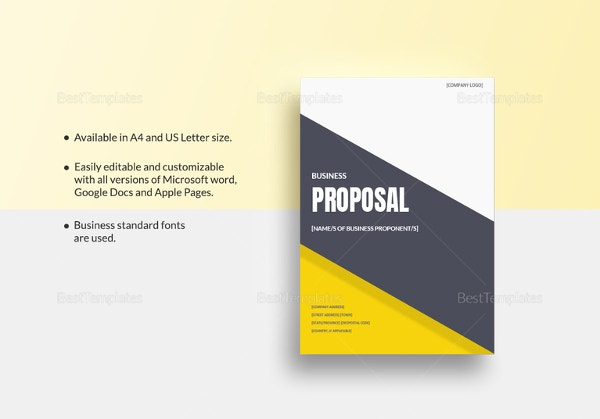 Business Proposal Template Word - 16+ Free Sample, Example, Format