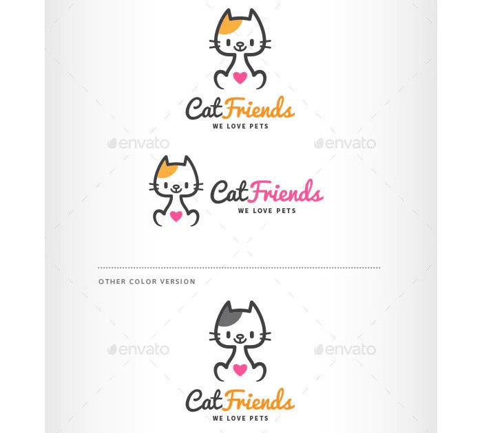 cat friends logo