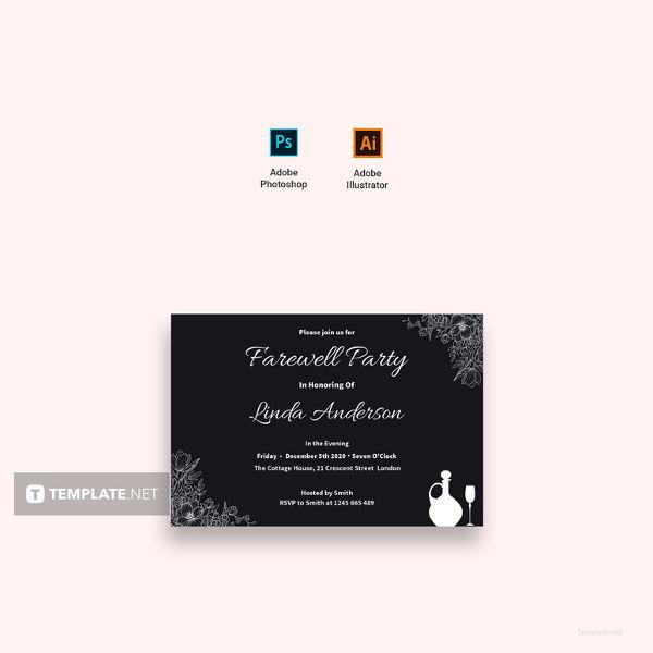 Chalkboard Farewell Invitation