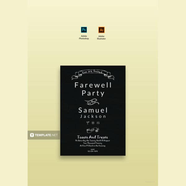 chalkboard farewell party invitation1