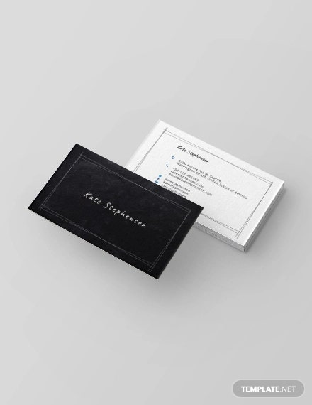 chalkboard teacher business card