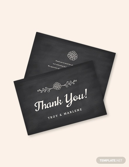 chalkboard thank you card template1