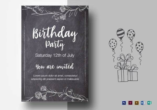 chalkstyle-birthday-party-flyer-template